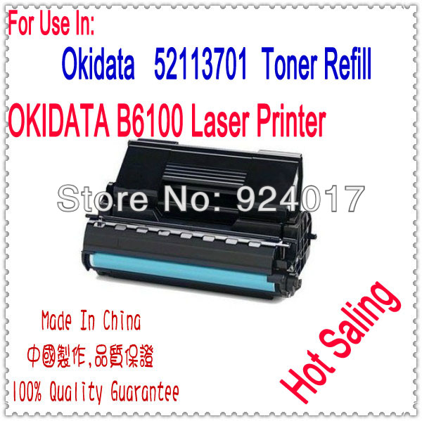 Use For OKI Toner 52113701 Cartridge,Black Toner For Okidata B6100 Printer Laser,Toner Refill For OKI 6100 Printer,For OKI Toner 20pcs 45807115 toner cartridge chip for oki data es5112 es4132 es4192 es5162 es 5112 4132 4192 5162 printer powder refill reset