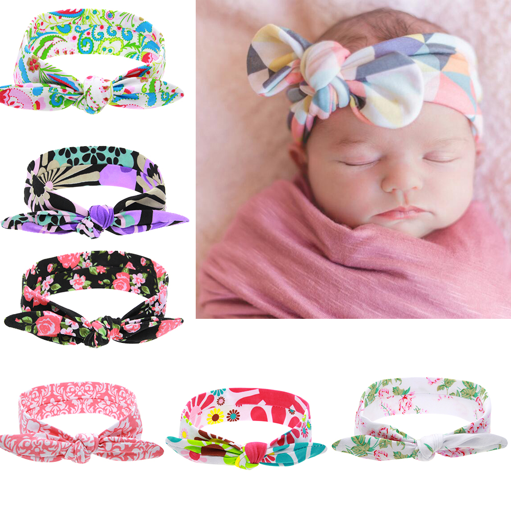 New Cute Elastic Flower Headband DIY Cotton Wrap Elastic Kids Headwear Can Adjusted Elastic Hair Accessories