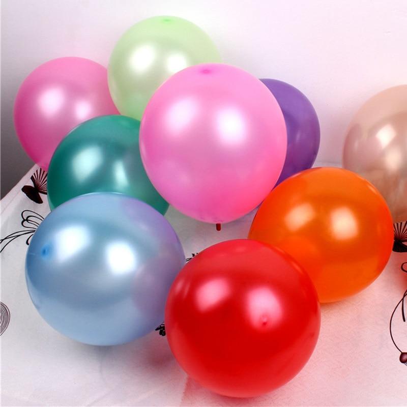 100pcs / lot 10inch 1.2g 라텍스 헬륨 파티 공기 풍선 / 풍선 풍선 장난감 생일 / 웨딩 공급 크리스마스 장식