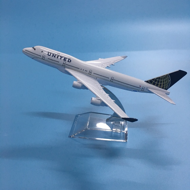 American Air United Airlines Boeing 747 B747 400 Airways 16cm Alloy Metal Plane Model Aircraft Airplane Model w Stand Gift 1