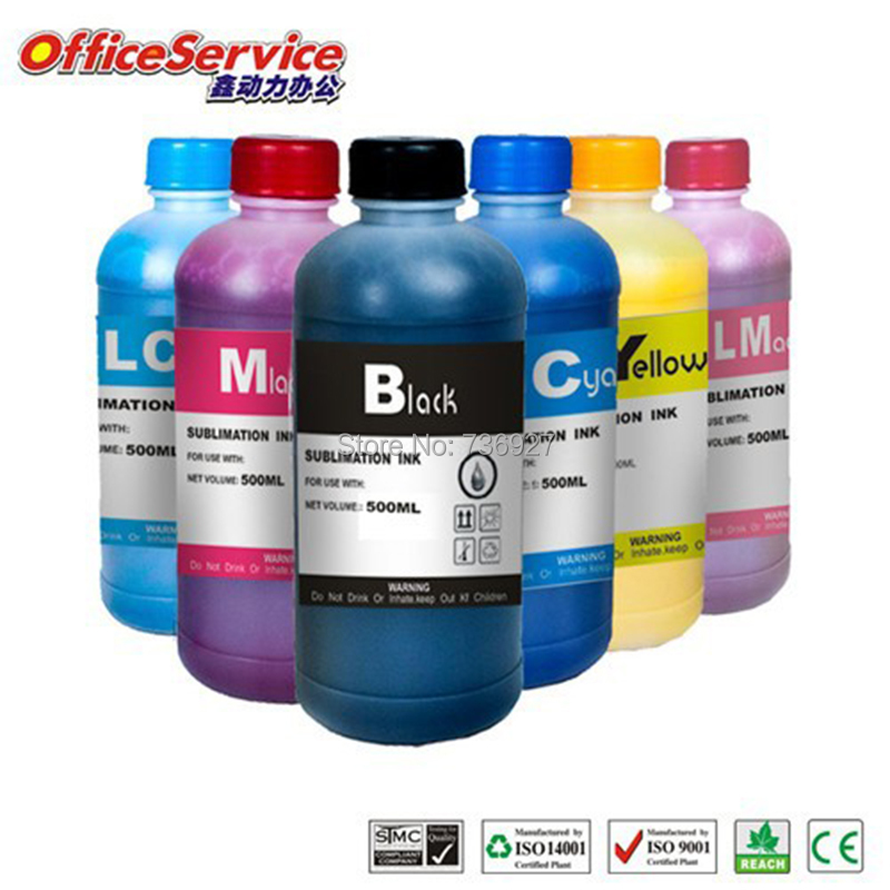 6X500ML T0791 T0981 T0801 Universal Sublimation Ink For Epson 1400 1500W P50 R290 R360 Artisan 600