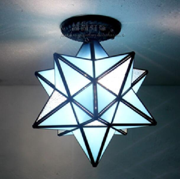 Tiffany star personality creative living room bedroom restaurant bar ceiling lamp corridor porch balcony simple floating DF58 free deliverythe the new clover pendant glass piaochuang tiffany bar creative personality corridor lamp simple modern lighting