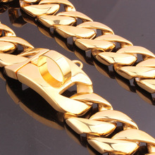 Heavy Duty Gold Cuban Link Dog Collar