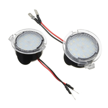 2pcs Rearview Mirror LED Car Welcome Light Car Lamp Courtesy Light For Ford