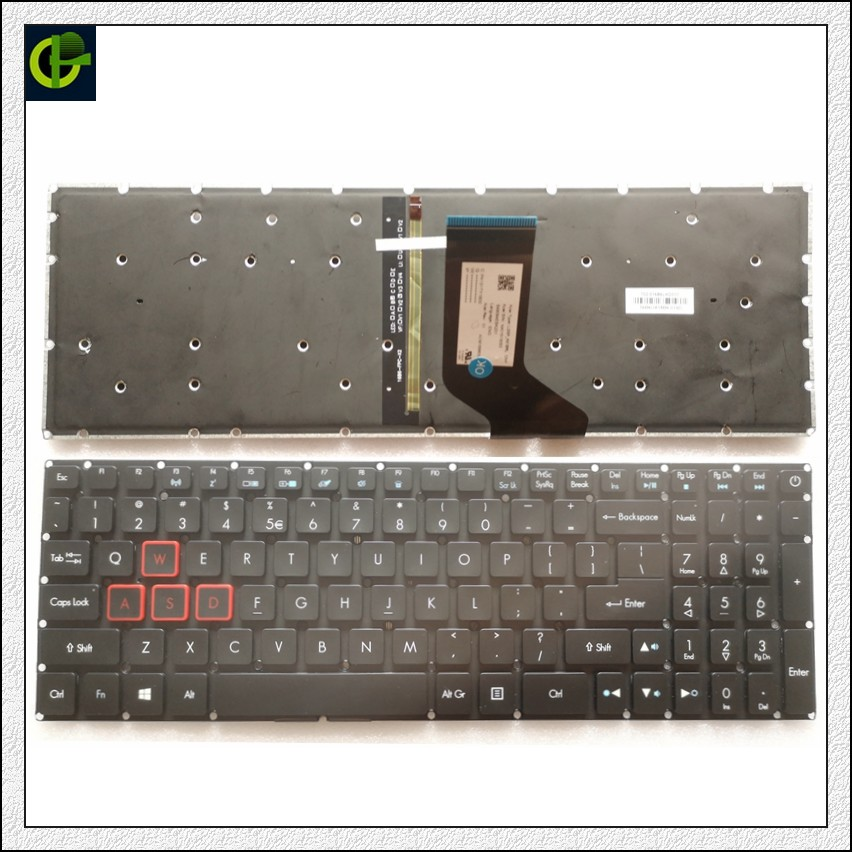 New Backlit English Keyboard For Acer Predator Helios 300 G571 PH317-51 NK.I1513.053 G3-571 G3-572 PH315-51 G3-572-72YF US