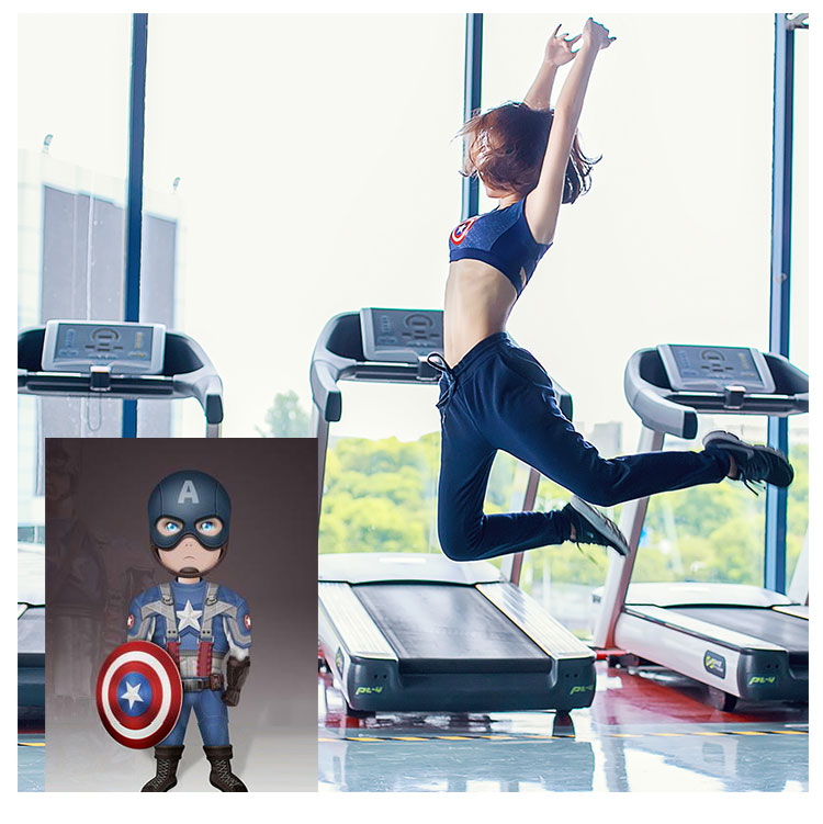 SuperGirl Push Up Sports Bra  4
