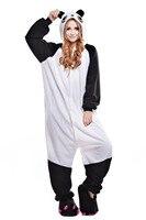 Halloween Cosplay Costume White Panda Onesies Anime Kigurumi Pajamas Animal Cosplay Costume Men Women Adult Jumpsuit