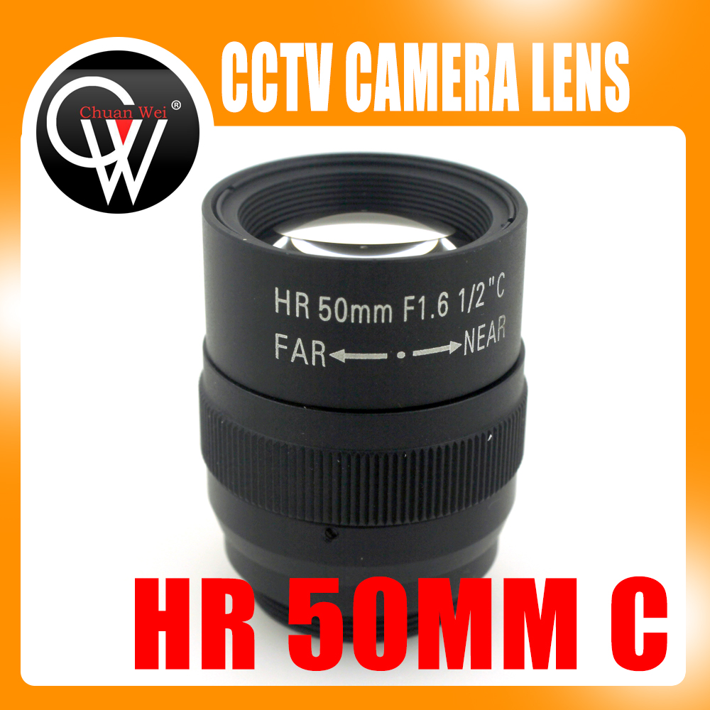 1.5MP 50mm lens Manual Iris Fixed focal length Lens 1/2 F1.6 C Mount HD Lens for Machine Vision cameras doumoo 330 330 mm long focal length 2000 mm fresnel lens for solar energy collection plastic optical fresnel lens pmma material