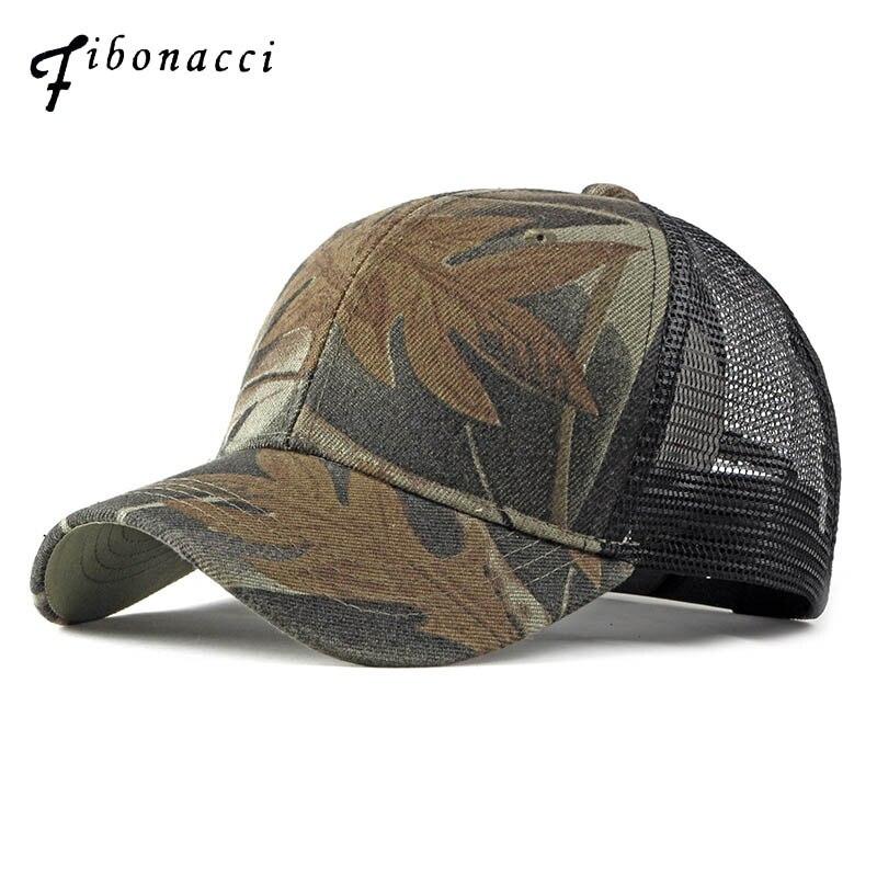 Fibonacci 2019 New camouflage mesh   baseball     cap   men women summer hat fashion outdoor sports snapback   caps
