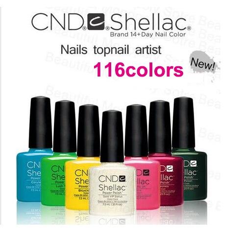 El esmalte en gel para uñas CND Shellac 116 color elige Nueva llegada de color Buena calidad Soak Off UV Gel Polish y Salon Nail Gel