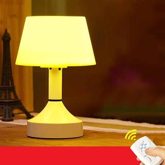 Creative LED remote control Dimming night light timer switch baby bed head light intelligent bedroom USB table lamp luminaria