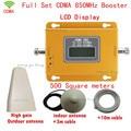 Conjunto completo 70dBi Ganho Reforço de Sinal de Telefone Móvel 3G GSM CDMA 850 MHz Repetidor de Sinal de Telefone Celular Amplificador de Sinal com antena