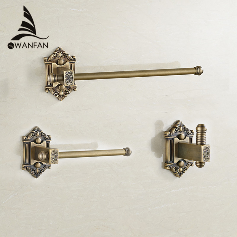 Bath Hardware Sets Antique Toilet Paper Holder Brass Towel Ring Euro Style Roll Holder Tissue Holder for  Bathroom 5200 leyden towel bar towel ring robe hook toilet paper holder wall mounted bath hardware sets stainless steel bathroom accessories