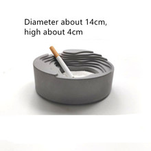 DIY Cement flowerpot Making Ashtray Silicone Mold for Desktop Decoration Garden Landscape Sucullent Plants Pot Cement Mould cement garden