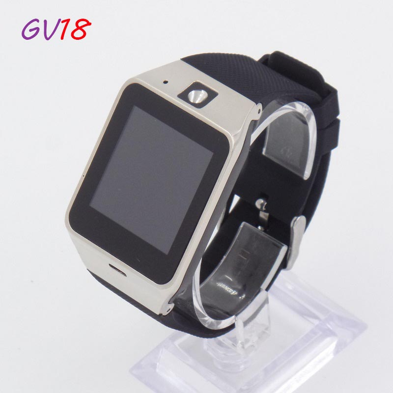 2016 Fashion Smart Watch GV18 for font b Android b font Phone Support SIM Card NFC