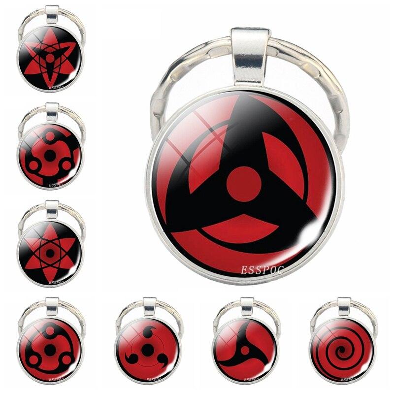 Anime Naruto Sharingan Eye Cosplay Keychain Kakashi Sasuke Jewelry Keychains for Men Gifts Him Boyfriend