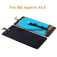 """4.5 """"para bq aquaris a4.5 tela lcd + componentes de tela sensível ao toque, substituído com peças de reparo de tela de vidro a4.5 grátis envio + ferramentas"""