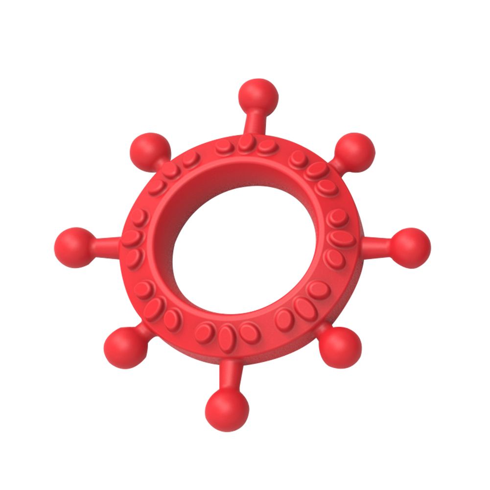 Silicone Sex Product Male Rudder Shape Masturbation Time Delay Penis Cock Ring Adult Game Sex Toys for Men Erotic in Penis Rings from Beauty Health