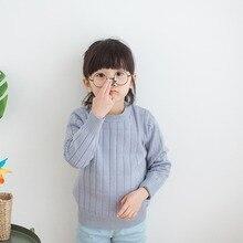 Детские осенние свитера для маленьких девочек и мальчиков, Зимний вязаный свитер в рубчик для маленьких девочек, детская одежда, пуловер для девочек