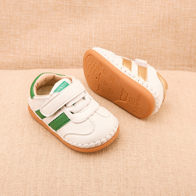 Phynier Female Baby Toddler Shoes Men's Sports Shoes White Shoes 0-1-2 Years Old Soft Leather Shoes Autumn