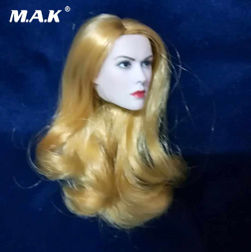 """Beauty Girl head 1/6 Scale Huntress Head Carving With Blond Hair Beauty girl Head sculpt for 12"""" Female Pale Color Figures"""
