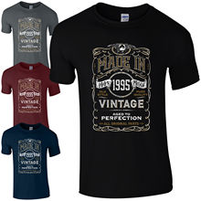 Made in 1995 TShirt Born 23rd Year Birthday Age Present Vintage Funny Mens Gift New FunnyTops Tee Unisex free shipping