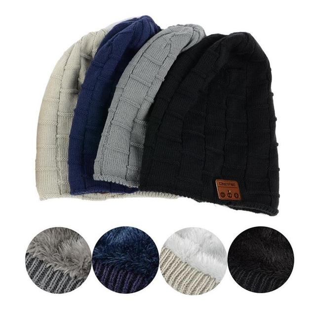 Fashion 2018 Warm Beanie Hat Wireless Bluetooth Smart Music Mp3 Hat Cap Headphone Headset Earphone Speaker Mic Sport Knitted Hat