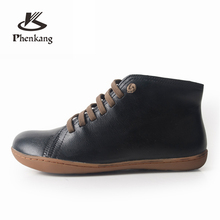 Women winter Boots Genuine sheepskin leather casual ankle Comfortable quality soft handmade flat Shoes black yellow red with fur men winter boots 100% genuine cow leather brogue shoes casual ankle shoes comfortable quality soft handmade flat shoes black red