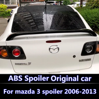 For Mazda 3 2006 2013 Spoiler ABS Material Car Rear Wing Primer Color Rear Spoiler For Mazda 3 Original factory spoiler