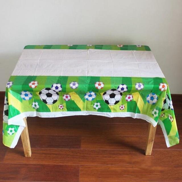 1pcs set cartoon football tablecloth party decorations plastic