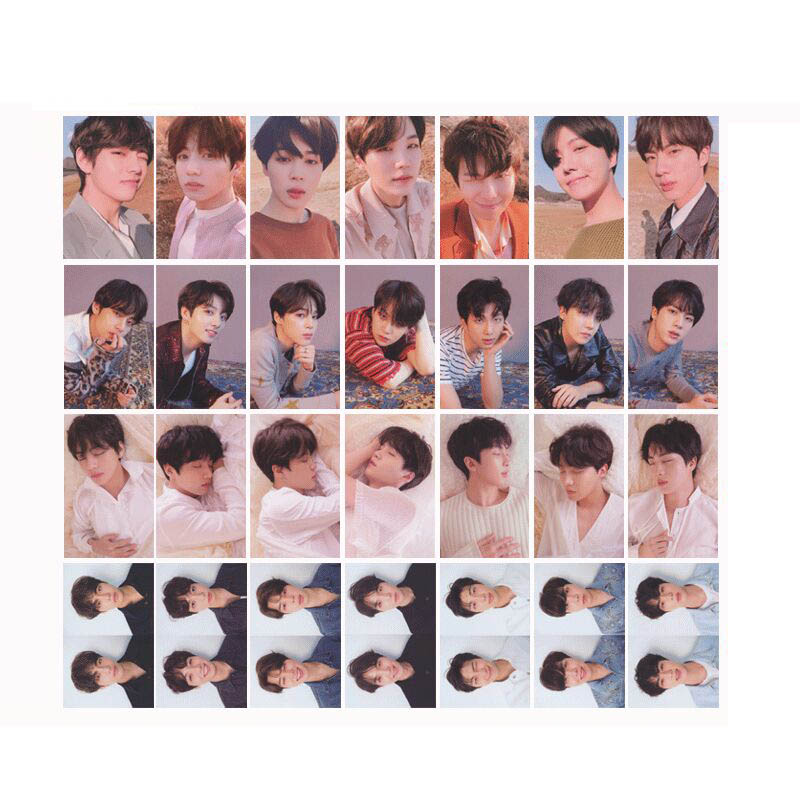 все цены на Youpop KPOP BTS Bangtan Boys FAKE LOVE YOURSELF Tear Album Photo Card Hip Hop Self Made Paper Cards Autograph Photocard XK570