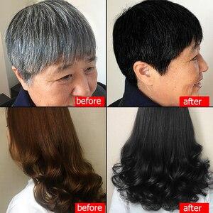 Image 5 - 500ml Natürliche Organische Ginseng Haar Farbstoff Shampoo Machen Haar Weiche Glänzende Braun Lila Und Schwarz Trockenen Haar Farbe Produkt keine Nebenwirkung