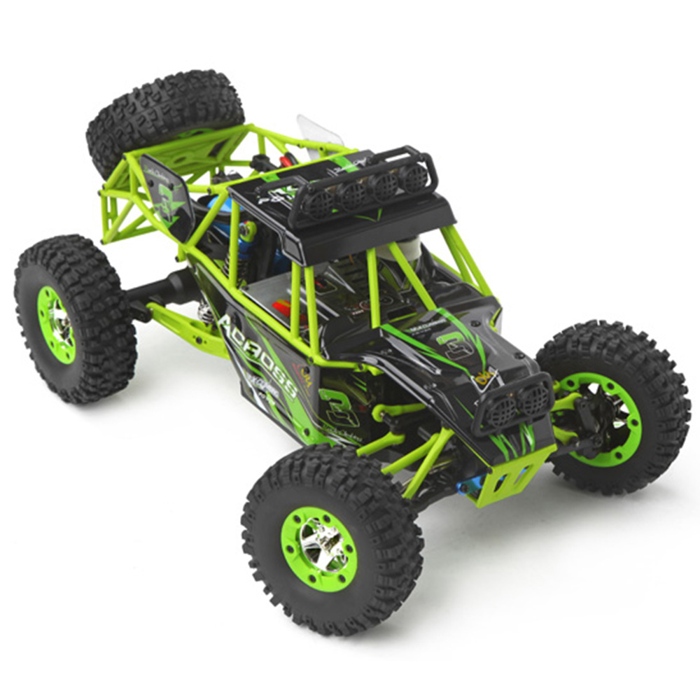 WLtoys 12428 1/12 4WD Crawler RC Car With LED Light RTR 2.4GHz Remote control Racing off-country Car with Brush Motor 50KM/H wltoys 12428 12423 1 12 rc car spare parts 12428 0091 12428 0133 front rear diff gear differential gear complete