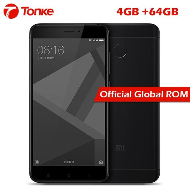 """Оригинальный Xiaomi Redmi 4x4 ГБ Оперативная память 64 ГБ Встроенная память 4100 мАч Snapdragon 435 Octa core отпечатков пальцев ID FDD LTE 4 г 5 """"720 P Miui 8 мобильного телефона"""