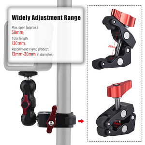 """Image 2 - Andoer Multi function Super Clamp Ball Head Clamp Magic Arm Super Clamp w/1/4"""" Thread for GPS Phone LCD/DV Monitor Video Light"""
