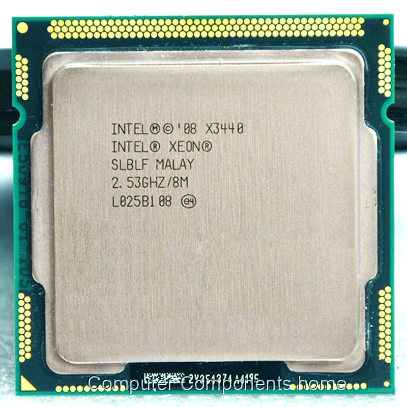 Galleria fotografica <font><b>Intel</b></font> Xeon X3440 X3440 CPU Xeon Processor (8 M Cache, 2.53 GHz)) LGA1156 CPU Desktop