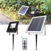 led reflector 10W Solar Flood Light RF Remote Control Outdoor Garden Light Lighting Waterproof IP66 Garden Lamp Motion Sensor