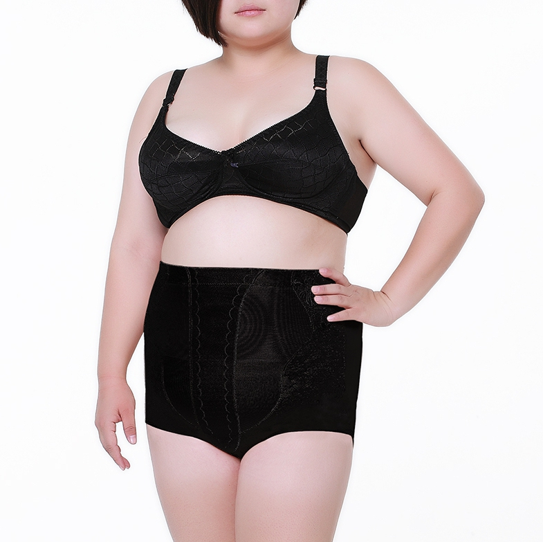 bbcf850b998 3XL-5XL Plus Fat high waist underwear abdomen pants butt-lifting control  panties slimming body shaping shapers for big women