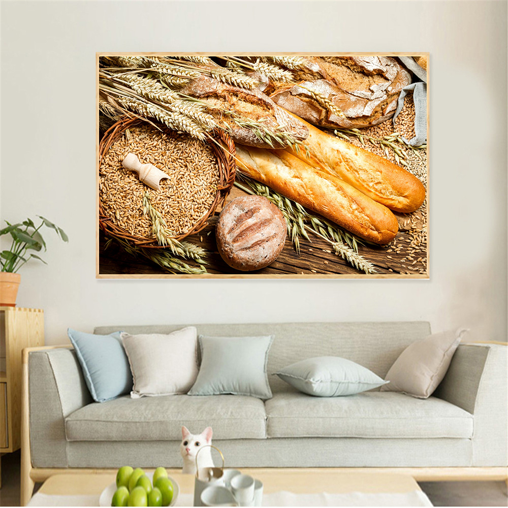 US $1.85 40% OFF|Nordic Coffee Wall Art Bread Wheat Breakfast Food Painting  Kitchen Decoration Home Dining Room Decor Hamburger Poster Prints-in ...
