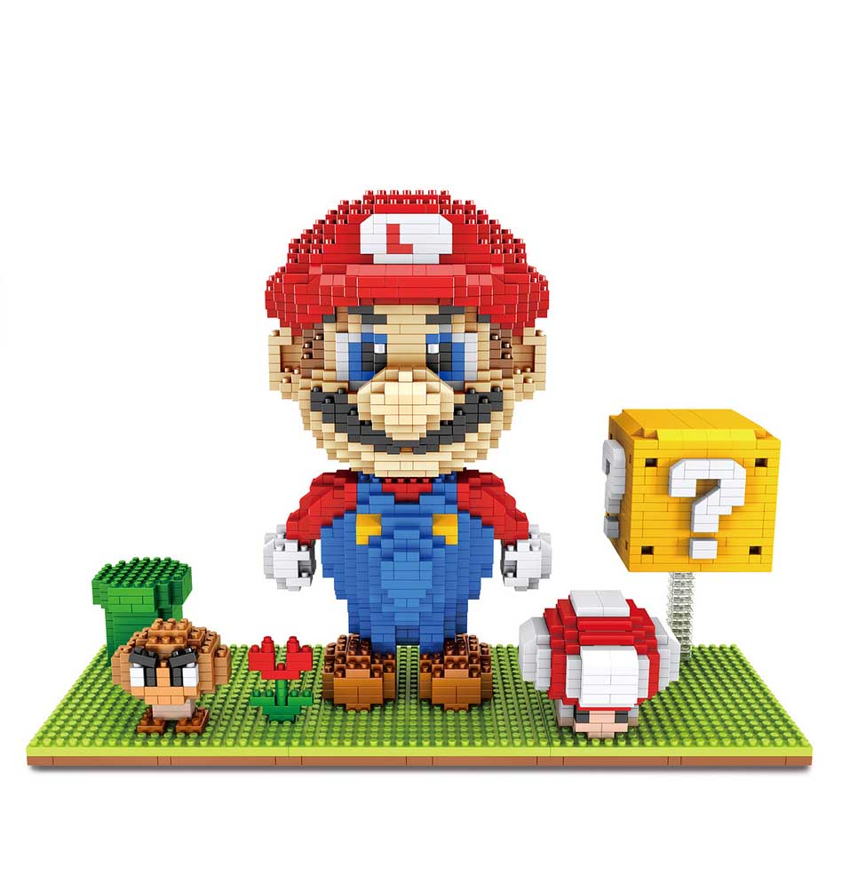 6 NIB Super Mario Mini Figure  Building Brick sets  blocks
