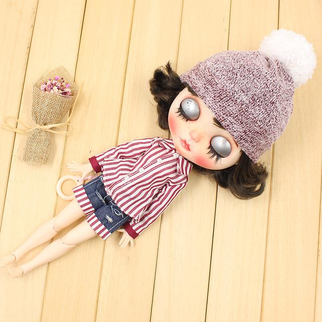 پیراهن عروسک Neo Blythe با پت کوتاه و کلاه