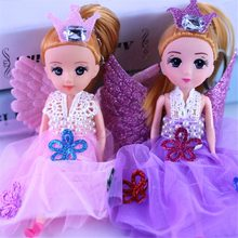 "7"" Glittering Angels Dolls With Wings Toy For Girls Toys Birthday Gift(China)"