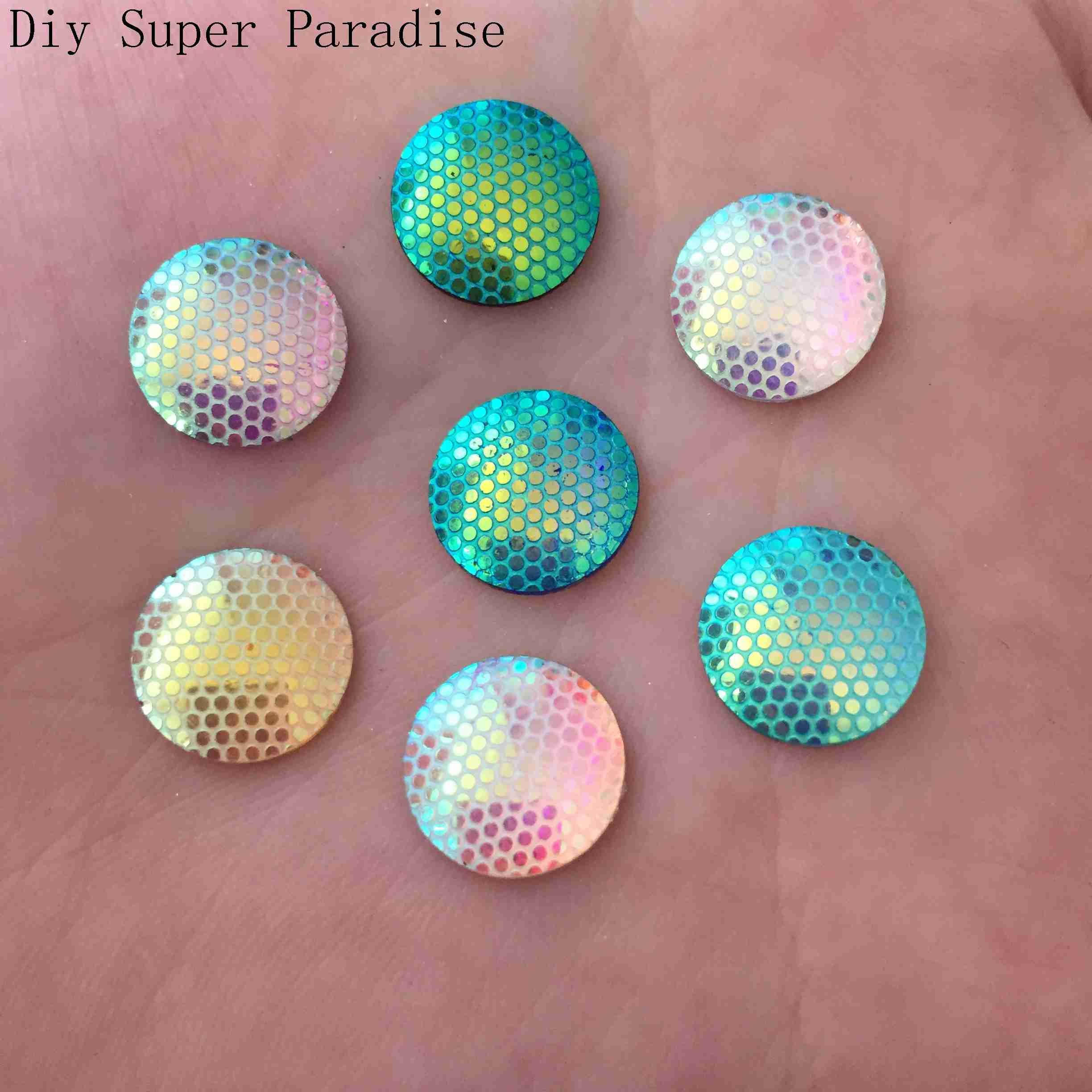 NEW DIY 400PCS 12mm AB Resin Round Rhinestone Flat Back Scrapbook for Phone K71*10 ...