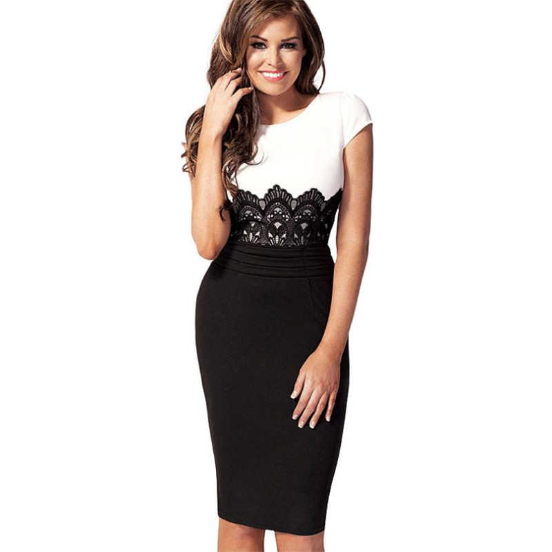 c84638c1ce6 Новые платья женские 2019 пэчворк OL шить кружева до колена с коротким  рукавом платье Vestidos одежда