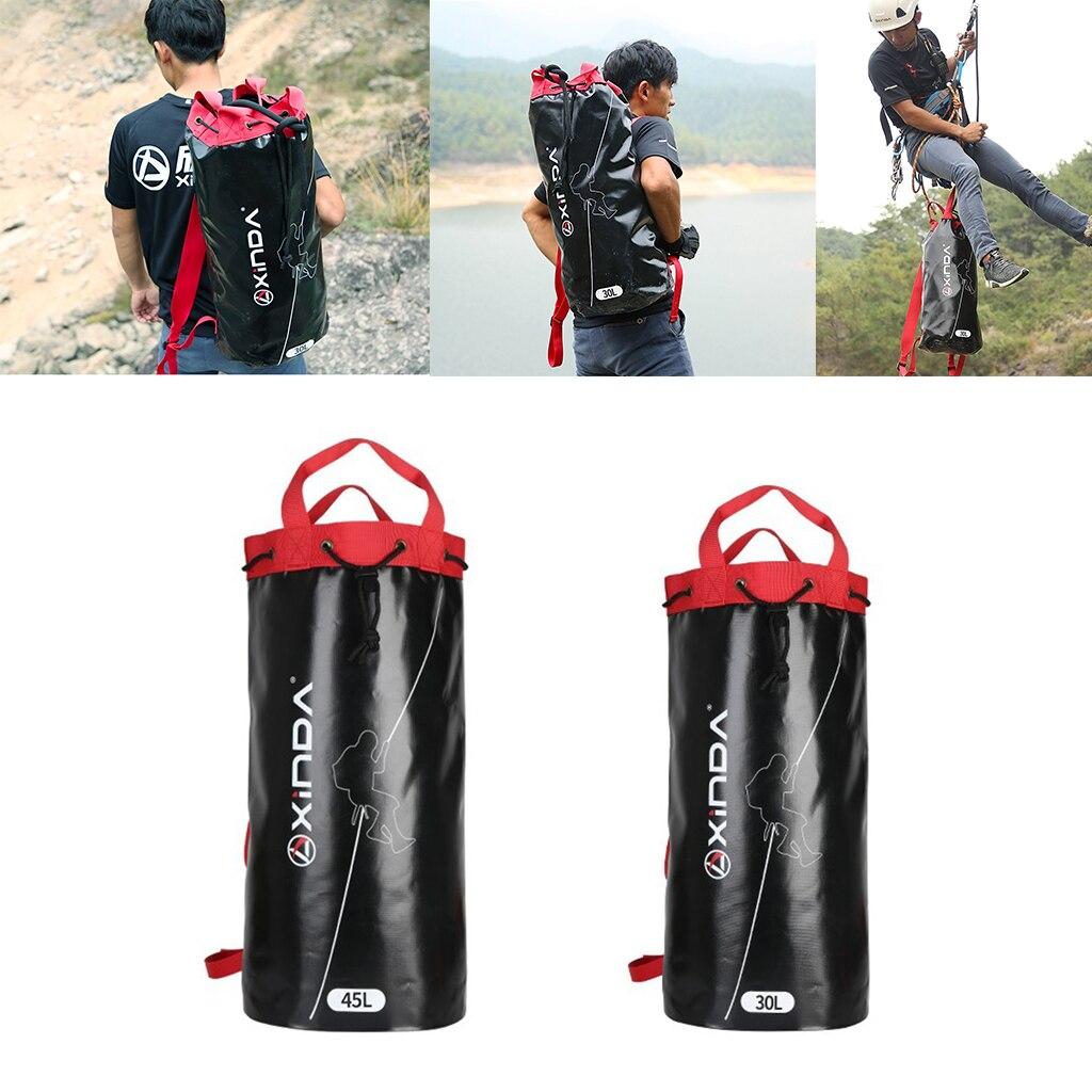 Sac à dos de support d'équipement de vitesse de sac de corde d'escalade extérieure imperméable à l'eau