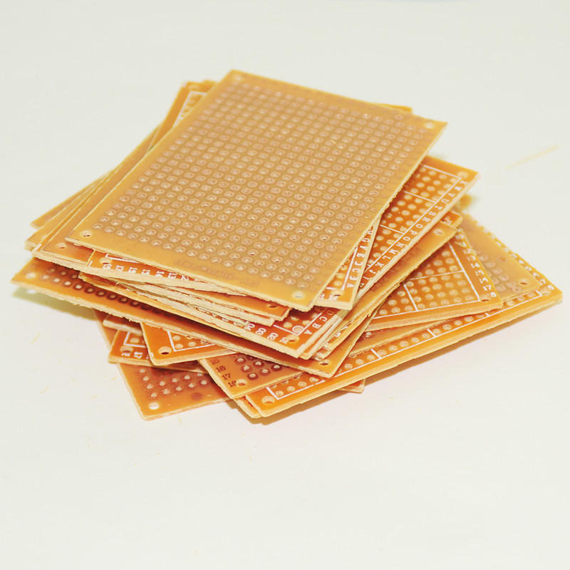 10Pcs new Prototype Paper Copper PCB Universal Experiment Matrix Circuit Board 5x7cm 2.54mm Single Side Plate