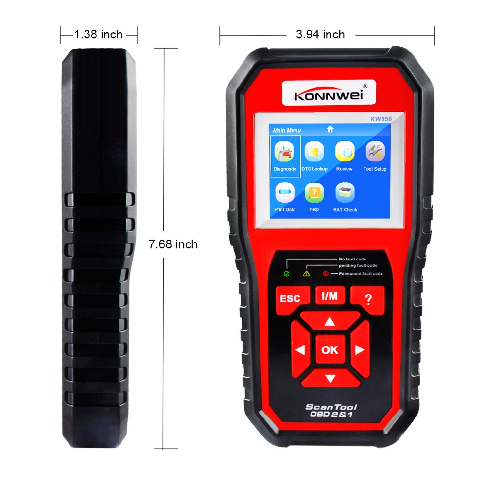 Image 2 - KONNWEI KW850 obd2 auto diagnostic scanner Full OBD 2 OBDII Code Reader Scanner Car diagnostics tool can one click I/M readiness-in Code Readers & Scan Tools from Automobiles & Motorcycles
