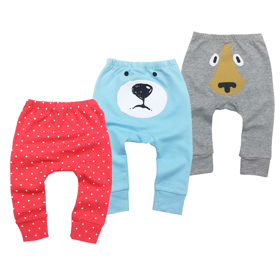 Infantil Toddler Baby boy girl Pants clothes Cotton Cartoon Animal Printing Embroidery pattern Lovely PP Pants Fox Trousers 6M