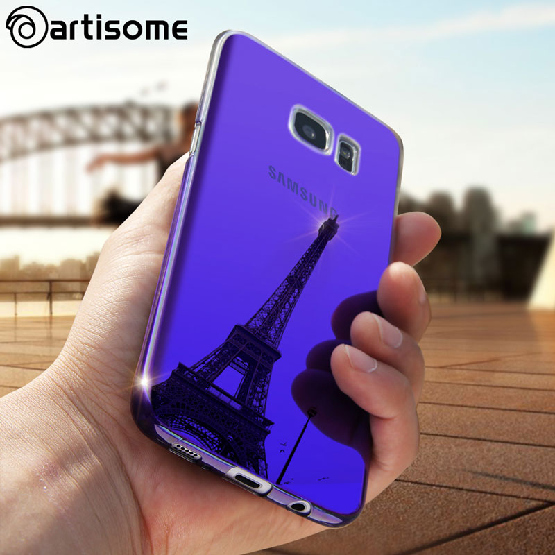 Colorful Case For Samsung Galaxy S7 Edge S8 Plus S8 Case Gradient Color PC Hard Back Cover For Samsung S8 S7 Edge Case ARTISOME