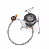 Outdoor Portable Windproof 3500W Gas Stove Camping Stove Gas Cooker Picnic Hiking Climbing Picnic Gas Burners